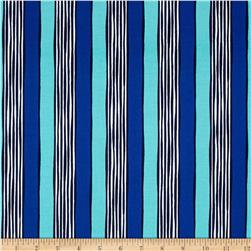 Michael Miller on the Town Stripe  Blue