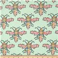 Cotton & Steel Mustang Heart Bees Teal