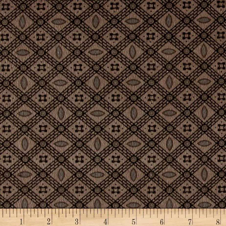 Cozies Flannel Check Light Brown Fabric
