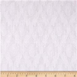 Kaufman Sweet Lady Jane Jacquard Vine White Fabric
