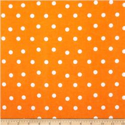 Flannel Polka Dots Orange