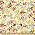 Glory Garden Medium Floral Buttermilk