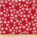 Scandi 4 Snowflakes Red