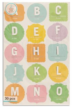 Martha Stewart Crafts Stickers Layered Block Alphabet
