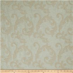 Fabricut Acquire Scroll Linen Blend Aqua