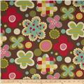 Moda Avant Garden Cheery Blossoms Earth Brown