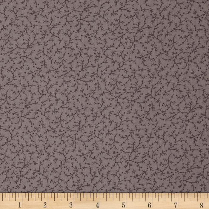 "108"" Wide Quilt Back Emma Vine Dark Grey"