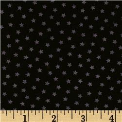 Stretch Polyester Jersey Knit Small Stars Black/Purple