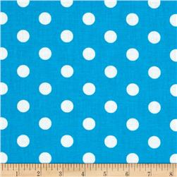 Spot On II Polka Dots Turquoise/White