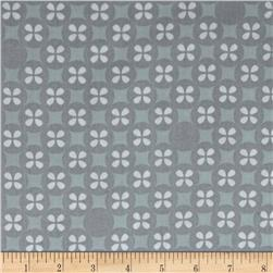 Kaufman Little Prints Double Gauze Silverdollar Grey