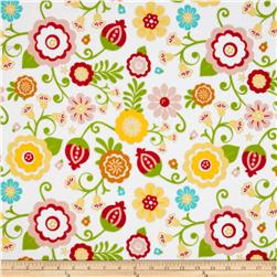 Riley Blake Flannel Simply Sweet Large Floral White