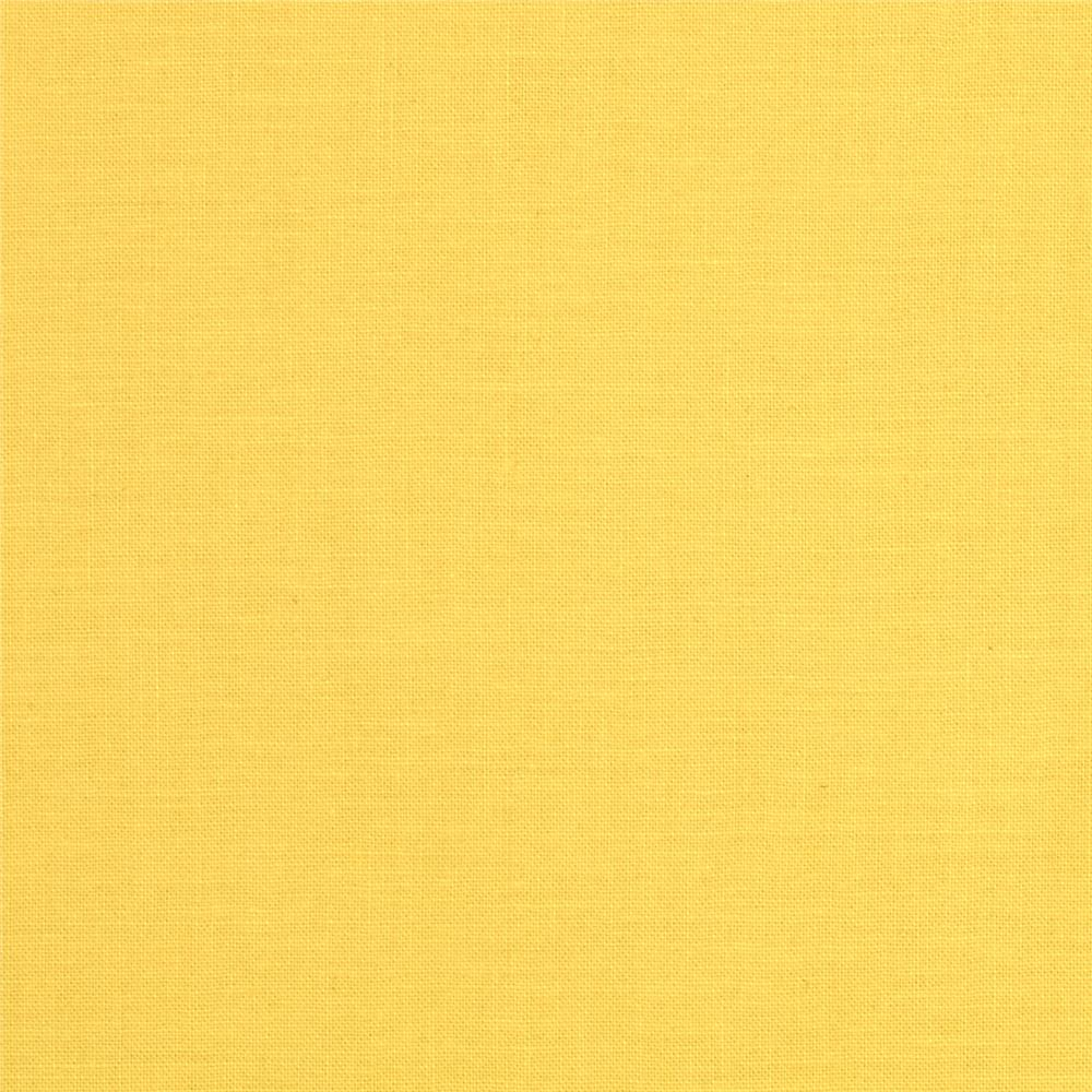Michael Miller Cotton Couture Broadcloth Canary Yellow Fabric By The Yard