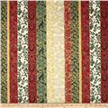 Pear Tree Greetings Metallic Stripe Evergreen/Gold