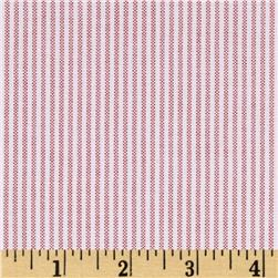Kaufman Oxford Yarn Dyed Small Stripe Red Fabric