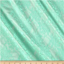 Satin Tricot Lace Mint/Silver