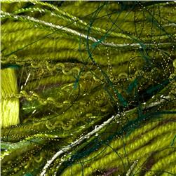 Bernat Knit or Knot Yarn (45003) Green Glitter