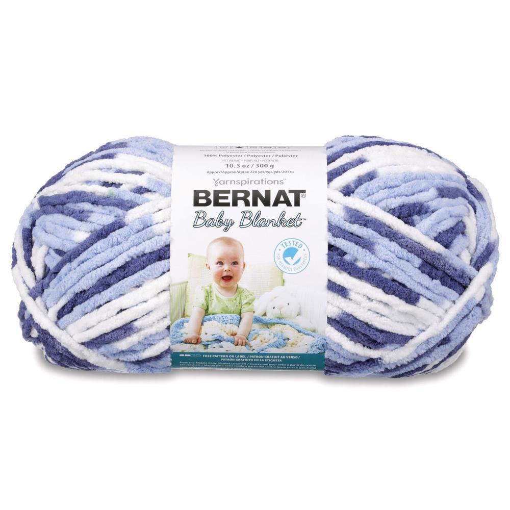 Bernat Blue Chenille Yarn | Fabric com