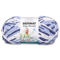 Bernat Baby Blanket Big Ball Yarn (04134) Blue Twist
