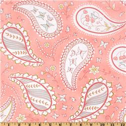 Michael Miller Bella Butterfly Pretty Paisley Pink Fabric