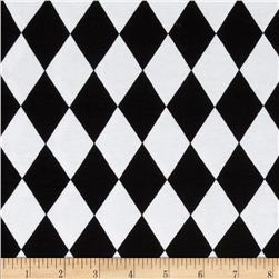 Cotton Lycra Jersey Knit Harlequin Black/White