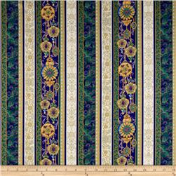 Peacock Ornamental Metallic Peacock Stripe Peacock/Gold