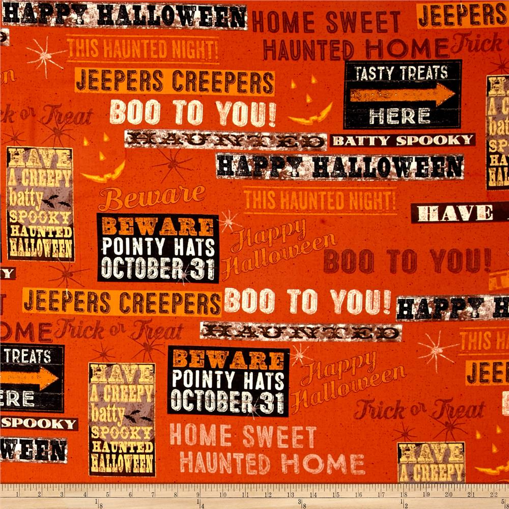 Jeepers Creepers Toile Dark Orange