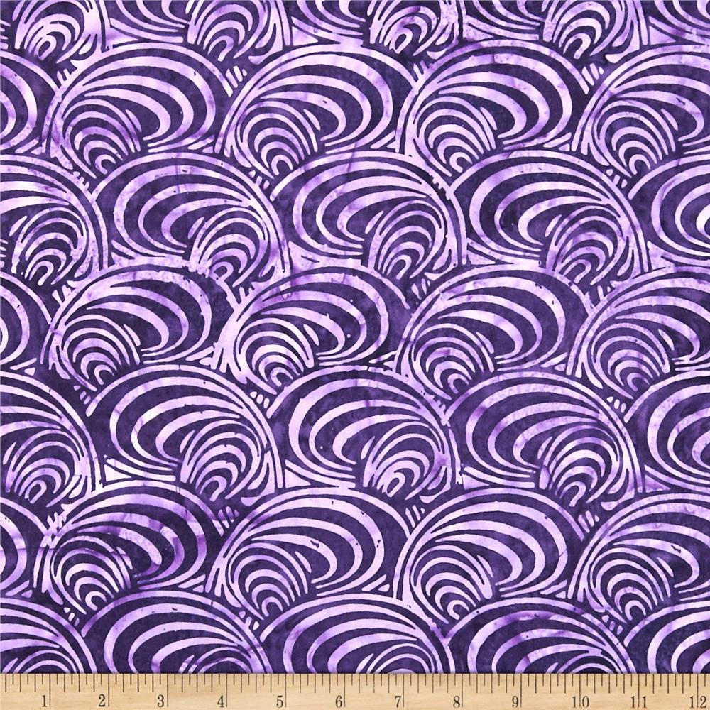 Bali Batiks Handpaint Mod Swirl Grape