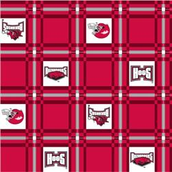 Collegiate Tailgate Vinyl Tablecloth University of Arkansas Cardinal/White