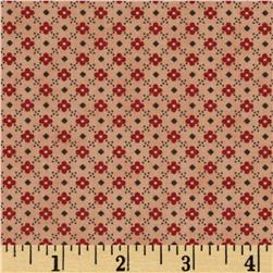 Moda Front Porch Floral Grid Rose