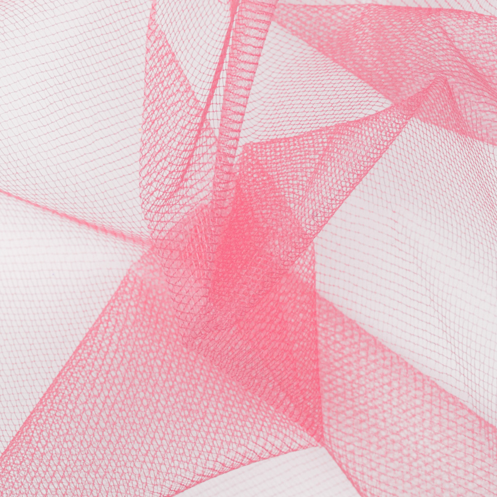 54'' Diamond Net Dusty Rose Fabric