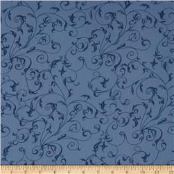 110'' Wide Quilt Backing Filigree Blue