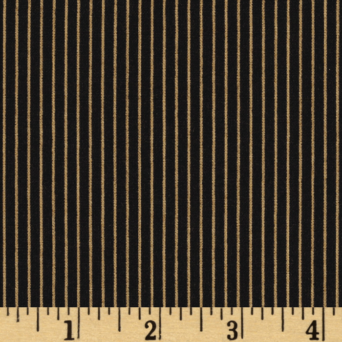 IQSC Birdsong Narrow Stripe Black Fabric