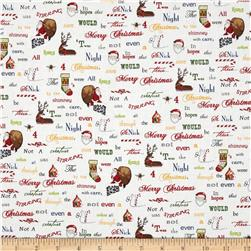 Holly Jolly Christmas Words Cream Holiday