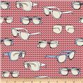 Riley Blake Speedster Sporty Glasses Red
