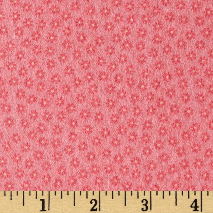 Riley Blake Happy Flappers Flannel Petal Pink