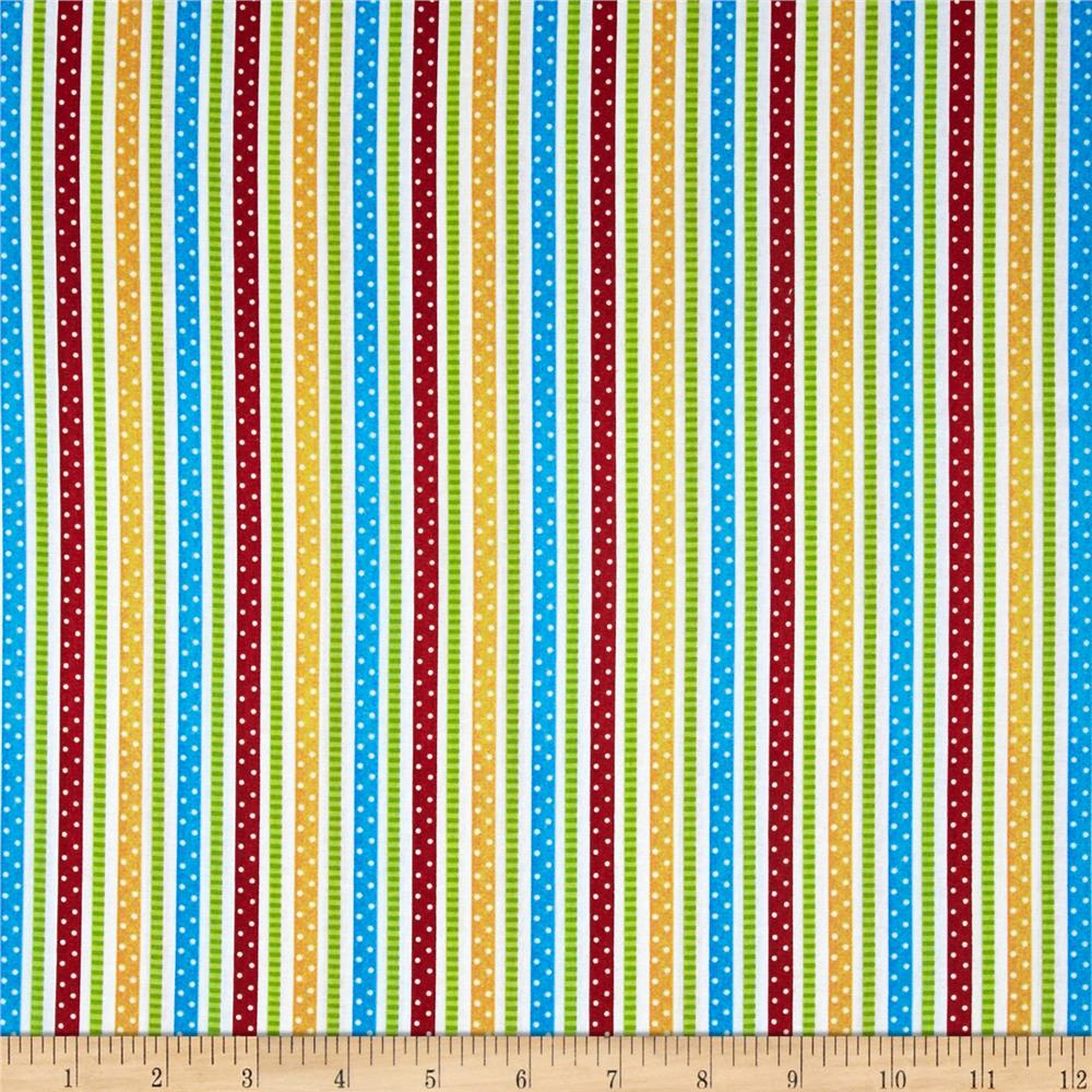 School Days School Stripe White/Multi