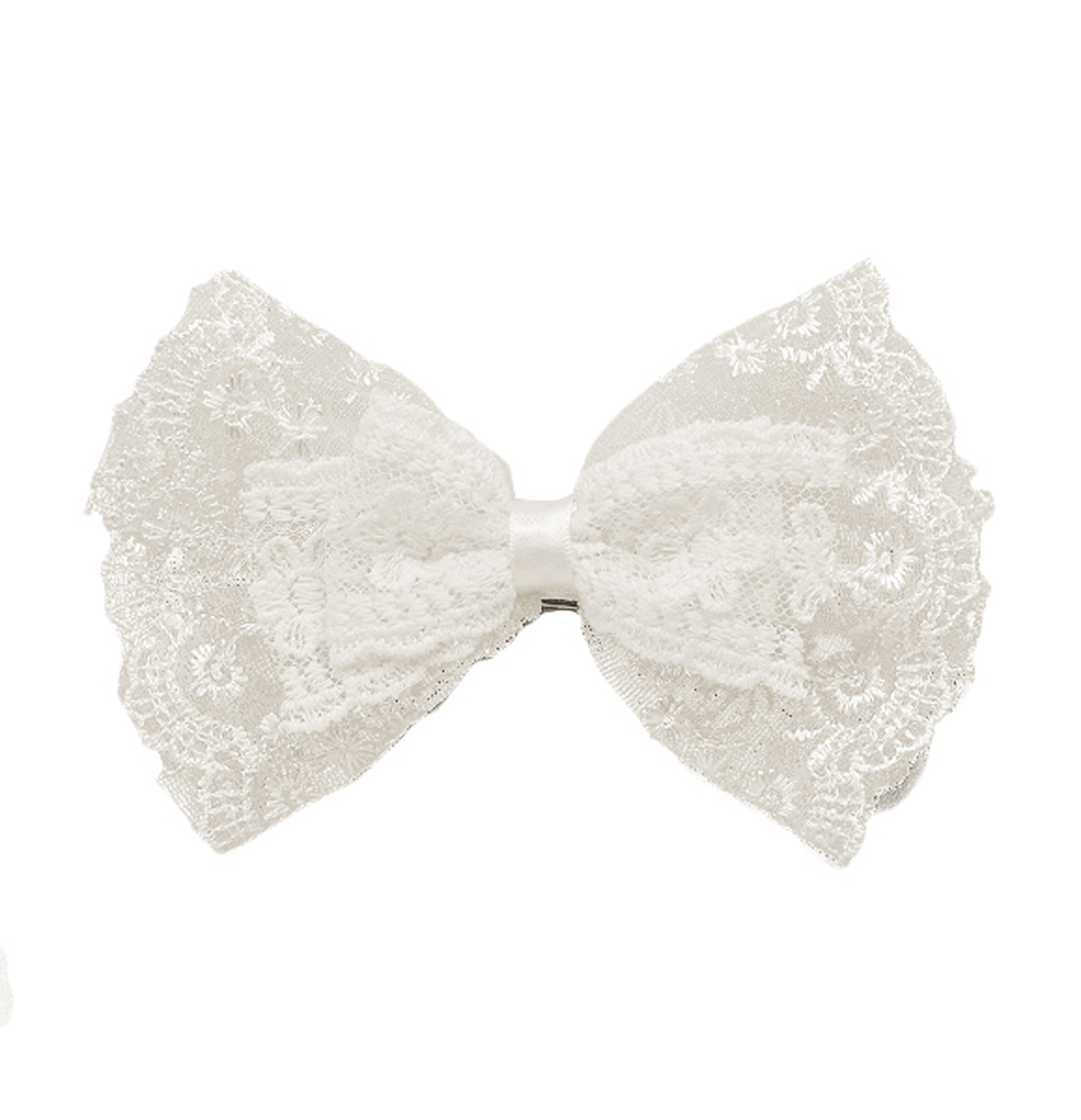 6'' X 4'' Lace Double Bow Brooch And
