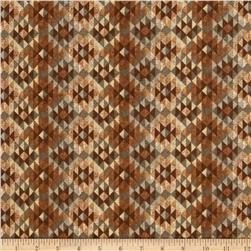 Timber Lodge Flannel Diamond Stripe Earth Brown