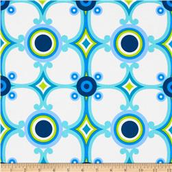 Contempo Palm Springs Medallion Blue Fabric