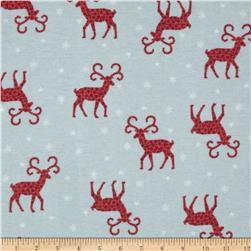 Flannel Tossed Reindeer Grey