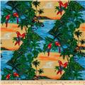 Hoffman Tropicals Parrots & Toucans Sunset Gold