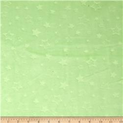 Minky Embossed Star Cuddle Lime Fabric