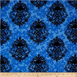 Michael Miller Skulls Out Goth Damask Royal