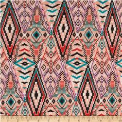 Chiffon Geometric Tribal Peach/Black/Teal/Purple