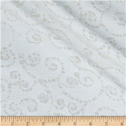 Indian Batik East Side Dots White