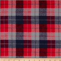 Kaufman Durango Flannel Plaid Med Red