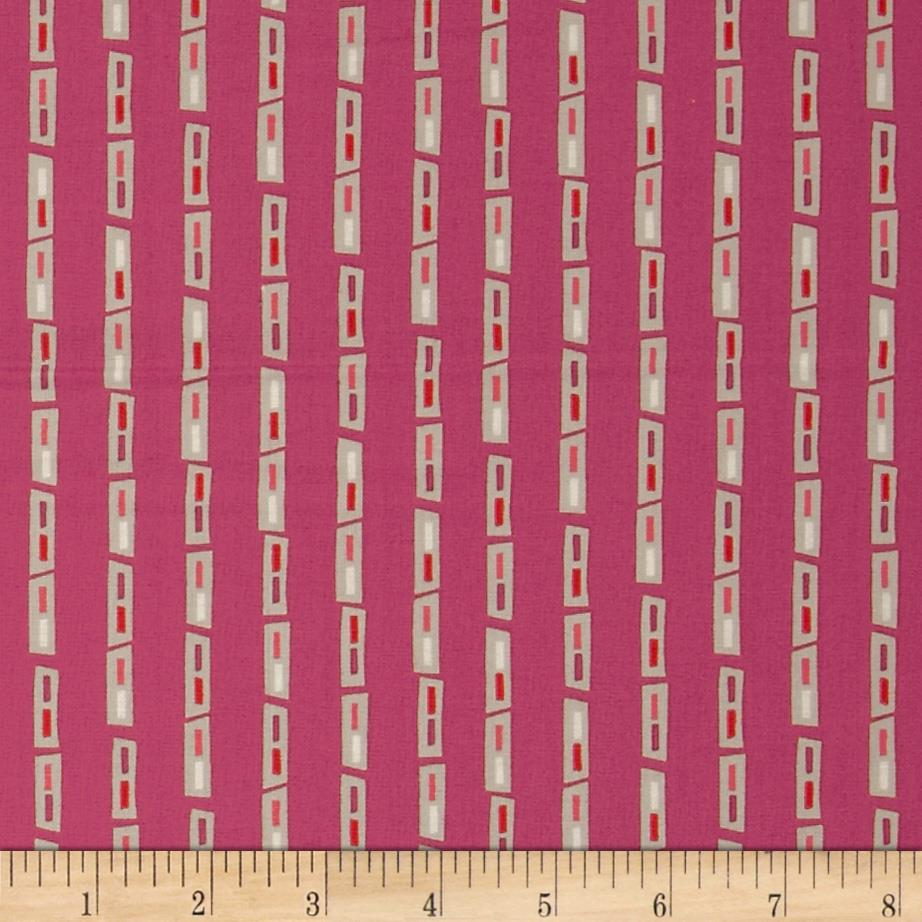 City Scenes Geo Stripe Hot Pink