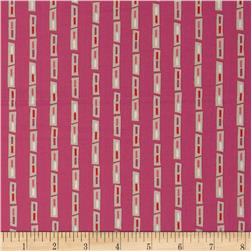 City Scenes Geo Stripe Hot Pink Fabric