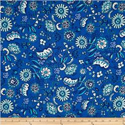 Meridian Tossed Floral Blue