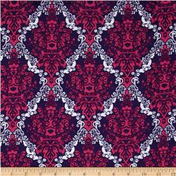 Kaufman 21 Wale Cool Cords Damask Purple Fabric